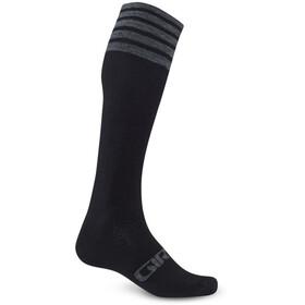 Giro Hightower Socks Unisex Merino Wool black/gray stripe